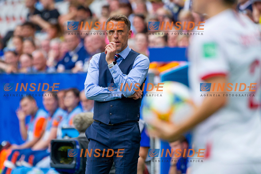 Philip neville (England)<br /> Nice 09-06-2019 <br /> Football Womens World Cup <br /> England - Scotland <br /> Inghilterra - Scozia <br /> Photo Norbert Scanella / Panoramic/Insidefoto <br /> ITALY ONLY