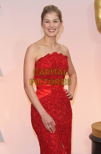 22 February 2015 - Hollywood, California - Rosamund Pike. 87th Annual Academy Awards presented by the Academy of Motion Picture Arts and Sciences held at the Dolby Theatre. <br /> CAP/ADM<br /> &copy;AdMedia/Capital Pictures