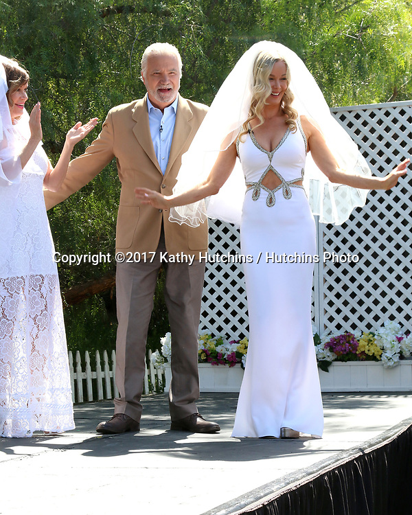 "LOS ANGELES - APR 14:  Bobbie Eakes, John McCook, Jennifer Gareis at the ""Home and Family"" Celebrates ""Bold and Beautiful's"" 30 Years at Universal Studios Back Lot on April 14, 2017 in Los Angeles, CA"