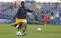 Nashville, TENN. - Saturday February 10, 2018: ROPAPA MENSAH during a preseason exhibition match between Nashville SC vs Atlanta United FC at First Tennessee Park.