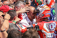 Ducati's Team rider Italian Andrea Dovizioso, winner  the Moto GP Grand Prix at the Mugello race track on June 4, 2017.<br /> Photo by Danilo D'Auria.<br /> Danilo D'Auria/UK Sports Pics Ltd/Alterphotos /NortePhoto.com
