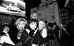 Broadway's Missy Keene, Victoria Regan and friends in NYC's Times Square to see the ball drop at midnight to welcome 2014 after they attended the Times Square Broadway Royal on Dec 31 2013 and January 1, 2014. (Photo by Sue Coflin/Max Photos)