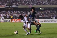 ATENÇÃO EDITOR: FOTO EMBARGADA PARA VEÍCULOS INTERNACIONAIS - SÃO PAULO, SP, 28 DE NOVEMBRO DE 2012 - COPA SULAMERICANA - SÃO PAULO x UNIVERSIDAD CATÓLICA: Jadson (e) durante partida São Paulo x Universidad Católica, válida pela semifinal da Copa Sulamericana no Estádio do Morumbi em São Paulo. FOTO: LEVI BIANCO - BRAZIL PHOTO PRESS