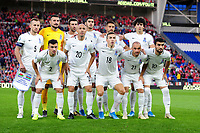 Players of Azerbaijan pose for squad photo during the UEFA Euro 2020 Qualifier match between Wales and Azerbaijan at the Cardiff City Stadium in Cardiff, Wales, UK. Friday 06, September 2019
