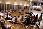 The Auroville choir rehearsal in Cripa. 2014