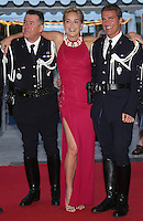 Sharon Stone pose with French cops - 67th Cannes Film Festival