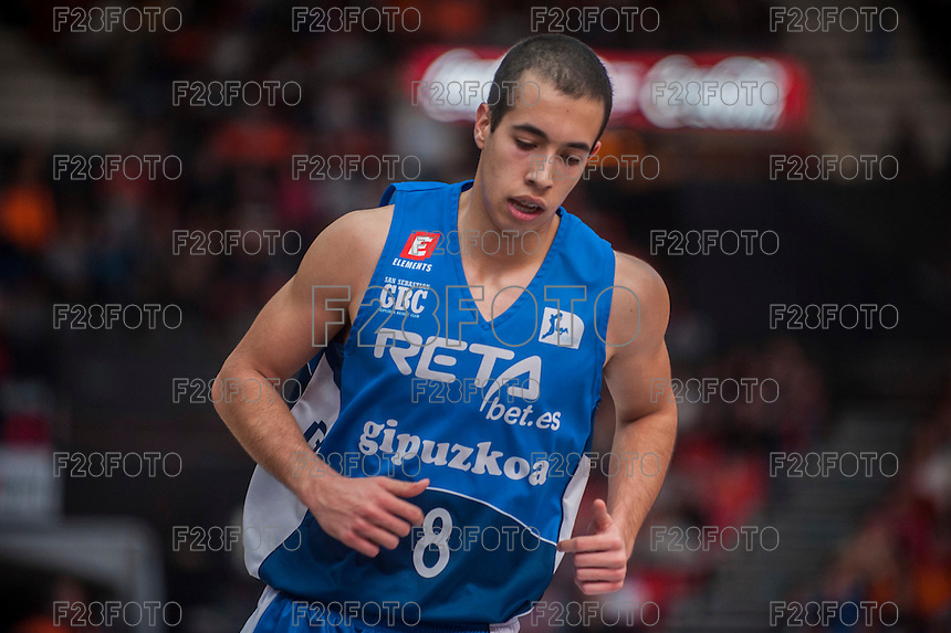 VALENCIA, SPAIN - NOVEMBER 22: Andres Rico during Endesa League match between Valencia Basket Club and Retabet.es GBC at Fonteta Stadium on November 22, 2015 in Valencia, Spain