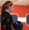 Colleen Kingsepp of Hicksville gets ready to roll during the Nassau County varsity girls bowling individual championship and state qualifier at AMF Garden City Lanes on Saturday, Feb. 10, 2018.