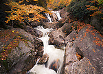 Autumn waterfall along West Fork Pigeon River, Pisgah National Forest
