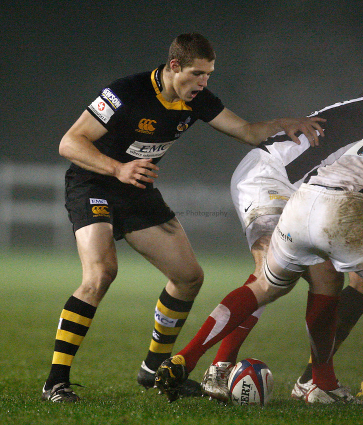 Photo: Richard Lane/Richard Lane Photography. London Wasps A v Saracens Stormers. Aviva A League. 04/10/2010. Wasps' Jonah Holmes.