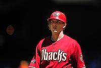 Apr. 27, 2011; Phoenix, AZ, USA; Arizona Diamondbacks shortstop Stephen Drew against the Philadelphia Phillies at Chase Field. Mandatory Credit: Mark J. Rebilas-