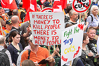 End Austerity Now Demo  London June 2015