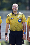 28 August 2016: Referee Christopher Spivey. The Elon University Phoenix played the University of San Diego Toreros at Koskinen Stadium in Durham, North Carolina in a 2016 NCAA Division I Men's Soccer match. USD won the game 2-1.