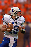 24 September 2005:  Duke QB Zack Asack(13)..Virginia Cavaliers defeated the Duke Blue Devils 38-7 at Scott Stadium in Charlottesville, VA.