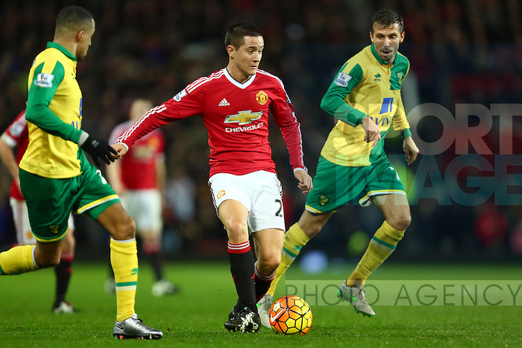 Ander Herrera of Manchester United in action - Manchester United vs Norwich City - Barclays Premier League - Old Trafford - Manchester - 19/12/2015 Pic Philip Oldham/SportImage