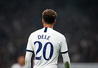 Back of Dele Alli of Spurs shirt (20) during the UEFA Champions League group match between Tottenham Hotspur and Bayern Munich at Wembley Stadium, London, England on 1 October 2019. Photo by Andy Rowland.
