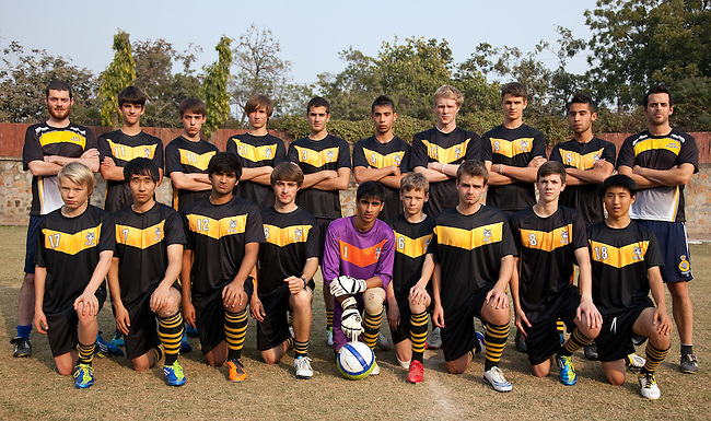 13 FEB 2012, NEW DELHI, INDIA:  The American Embassy School (AES) Football Team. Picture by Graham Crouch
