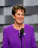Mary Kay Henry, International President, Service Employees International Union (SEIU), makes remarks at the 2016 Democratic National Convention at the Wells Fargo Center in Philadelphia, Pennsylvania on Monday, July 25, 2016.<br /> Credit: Ron Sachs / CNP<br /> (RESTRICTION: NO New York or New Jersey Newspapers or newspapers within a 75 mile radius of New York City)