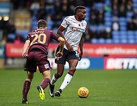 Bolton Wanderers' Sammy Ameobi Daniel James competing with Swansea City's Daniel James<br /> <br /> Photographer Andrew Kearns/CameraSport<br /> <br /> The EFL Sky Bet Championship - Bolton Wanderers v Swansea City - Saturday 10th November 2018 - University of Bolton Stadium - Bolton<br /> <br /> World Copyright © 2018 CameraSport. All rights reserved. 43 Linden Ave. Countesthorpe. Leicester. England. LE8 5PG - Tel: +44 (0) 116 277 4147 - admin@camerasport.com - www.camerasport.com