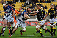 Auckland&rsquo;s Evan Olmstead in action during the Mitre 10 Cup - Wellington v Auckland at Westpac Stadium, Wellington, New Zealand on Thursday 4 October 2018. <br /> Photo by Masanori Udagawa. <br /> www.photowellington.photoshelter.com