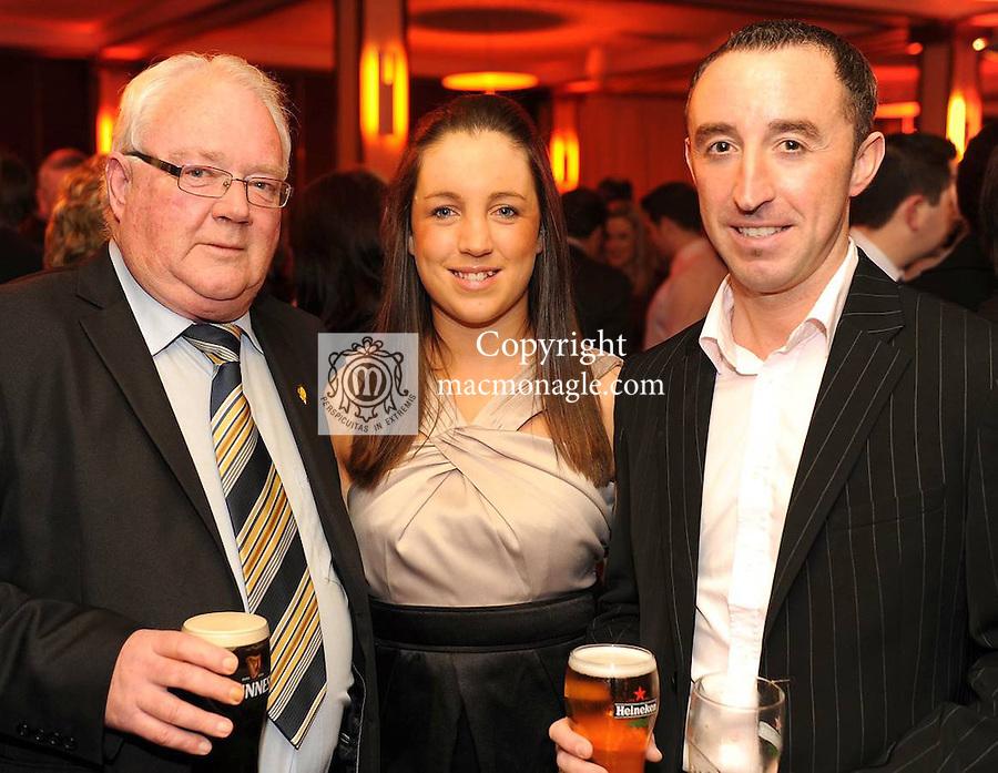 John Keogh, Carmel Lenihan and John Brosnan at  the Dr Crokes GAA Club Victory Celebration Night at the Inec, Killarney on Friday night. Picture: Eamonn Keogh (MacMonagle, Killarney)