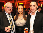 John Keogh, Carmel Lenihan and John Brosnan at  the Dr Crokes GAA Club Victory Celebration Night at the Inec, Killarney on Friday night. Picture: Eamonn Keogh (MacMonagle, Killarney)