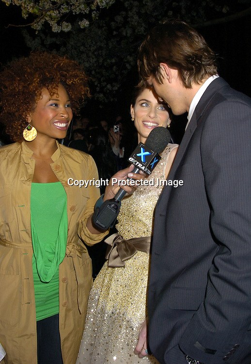 """Tanika Ray, Ashton Kutcher and Amanda Peet ..at a Special Screening of """" A Lot Like Love"""" on april 18, 2005 at the Clearview Chelsea West Cinema. ..Photo by Robin Platzer, Twin Images"""