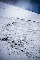 Climbing down Cotopaxi Volcano glacier, Cotopaxi National Park, Cotopaxi Province, Ecuador