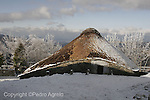 Nieve en O Cebreiro, en la imagen palloza tipica