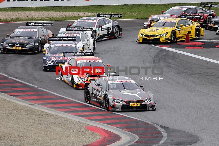DTM 2015, 07.Lauf Oschersleben, 11.09. - 13.09.15 <br /> Rennstart:<br /> Tom Blomqvist (SWE#31) BMW Team RBM BMW M4 DTM, Augusto Farfus (BRA#18) BMW Team RBM BMW M4 DTM , Ant&oacute;nio F&eacute;lix da Costa (POR#13) BMW Team Schnitzer BMW M4 DTM ,Marco Wittmann (DEU#1) BMW Team RMG BMW M4 DTM ,Pascal Wehrlein (DEU#94) gooix/Original-Teile Mercedes-AMG C-Coup&eacute;<br /> <br /> <br /> <br /> <br /> <br /> Foto &copy; nordphoto /  Bratic