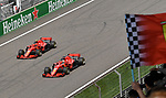 15.04.2018, Shanghai Audi International Circuit, Shanghai, 2018 FORMULA 1 HEINEKEN CHINESE GRAND PRIX, 12.04. - 15.04.2018<br /> im Bild<br />Sebastian Vettel (GER#5), Scuderia Ferrari, Kimi Raikkonen (FIN#7), Scuderia Ferrari<br /> <br /><br /> <br /> Foto &copy; nordphoto / Bratic