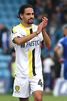 Ryan Edwards of Burton Albion applauds the away fans at the final whistle during Gillingham vs Burton Albion, Sky Bet EFL League 1 Football at The Medway Priestfield Stadium on 10th August 2019