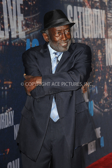 WWW.ACEPIXS.COM<br /> February 15, 2015 New York City<br /> <br /> Garrett Morris walking the red carpet at the SNL 40th Anniversary Special at 30 Rockefeller Plaza on February 15, 2015 in New York City.<br /> <br /> Please byline: Kristin Callahan/AcePictures<br /> <br /> ACEPIXS.COM<br /> <br /> Tel: (646) 769 0430<br /> e-mail: info@acepixs.com<br /> web: http://www.acepixs.com