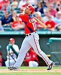 3 March 2011: Washington Nationals' infielder Danny Espinosa in action during a Spring Training game against the St. Louis Cardinals at Roger Dean Stadium in Jupiter, Florida. The Cardinals defeated the Nationals 7-5 in Grapefruit League action. Mandatory Credit: Ed Wolfstein Photo