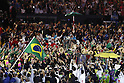 Brazil Delegation (BRA), <br /> AUGUST 5, 2016 : <br /> Opening Ceremony <br /> at Maracana <br /> during the Rio 2016 Olympic Games in Rio de Janeiro, Brazil. <br /> (Photo by Yusuke Nakanishi/AFLO SPORT)
