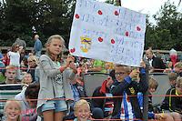 FIERLJEPPEN: WINSUM: Accommodatie St. Japik, 13-08-2016, FK Fierljeppen, Maureen Westerhof, ©foto Martin de Jong