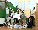 Dara, Destini, Ultan, Cormac, Katie, Niamh and Fenn from Buíon Setanta Scout Group painting a mural at the Scout Hall as part of the Dulux Let's Colour Project...(Photo credit should read Jenny Matthews www.newsfile.ie)....This Picture has been sent you under the conditions enclosed by:.Newsfile Ltd..The Studio,.Millmount Abbey,.Drogheda,.Co Meath..Ireland..Tel: +353(0)41-9871240.Fax: +353(0)41-9871260.GSM: +353(0)86-2500958.email: pictures@newsfile.ie.www.newsfile.ie.