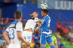 Getafe CF's Mauro Arambarri (r) and Atalanta BC's Alejandro Gomez during friendly match. August 10,2019. (ALTERPHOTOS/Acero)