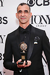 "NEW YORK, NY - JUNE 10:  Jamshied Sharifi, winner of the award for Best Orchestrations for The Band's Visit,"" poses in the 72nd Annual Tony Awards Press Room at 3 West Club on June 10, 2018 in New York City.  (Photo by Walter McBride/WireImage)"
