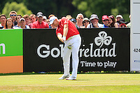 Stephen Gallacher (SCO) on the 9th tee during Round 2 of the Irish Open at Fota Island on Friday 20th June 2014.<br /> Picture:  Thos Caffrey / www.golffile.ie
