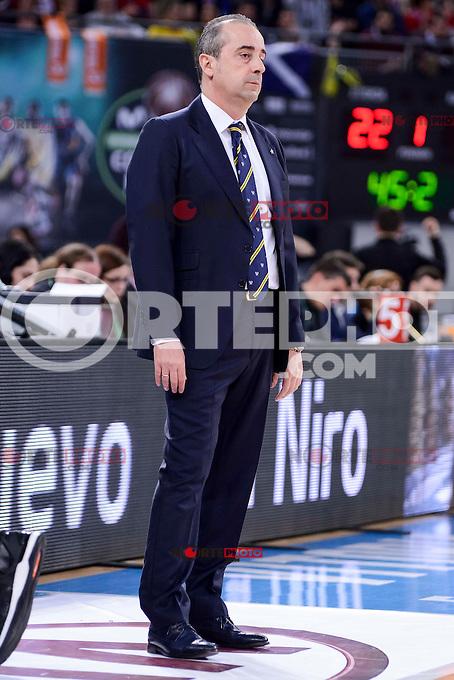 Iberostar Tenerife's coach Txus Vidorreta during Quarter Finals match of 2017 King's Cup at Fernando Buesa Arena in Vitoria, Spain. February 16, 2017. (ALTERPHOTOS/BorjaB.Hojas) /Nortephoto.com