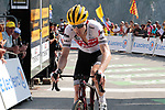"Bauke Mollema (NED) Trek-Segafredo crosses the finish line in 18th place 3'29"" down atop the Col du Tourmalet at the end of Stage 14 of the 2019 Tour de France running 117.5km from Tarbes to Tourmalet Bareges, France. 20th July 2019.<br /> Picture: Colin Flockton 