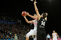 China&rsquo;s Hanlin Dong in action during the FIBA World Cup Basketball Qualifier - NZ Tall Blacks v China at Spark Arena, Auckland, New Zealand on Sunday 1 July 2018.<br /> Photo by Masanori Udagawa. <br /> www.photowellington.photoshelter.com