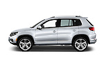 Car Driver side profile view of a 2016 Volkswagen Tiguan 2.0T-R-Line 5 Door SUV Side View