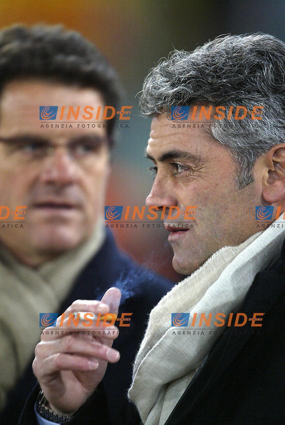 Roma 22/1/2004<br /> ROMA MILAN COPPA ITALIA 1-2<br /> Franco Baldini e Fabio Capello Roma<br /> Foto Andrea Staccioli Insidefoto