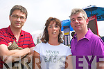 3023-3025.---------.Photo Finish.------------.Enjoying themselves at the Dingle races last Saturday afternoon were L-R Robert Ashe,Dawn Keane and Brendan O Connell.