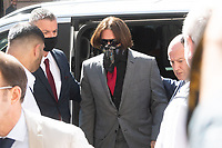 London, UK - 21 July 2020<br /> Johnny Depp attends libel trial against The Sun, a tabloid newspaper, at The Royal Courts of Justice.<br /> CAP/JOR<br /> ©JOR/Capital Pictures