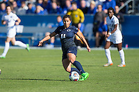 Cary, North Carolina - Sunday December 6, 2015: Raquel Rodriguez (11) of the Penn State Nittany Lions controls the ball during first half action against the Duke Blue Devils at the 2015 NCAA Women's College Cup at WakeMed Soccer Park.  The Nittany Lions defeated the Blue Devils 1-0.