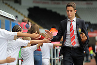 Pictured: Ander Herrera of Manchester United arrives Sunday 30 August 2015<br /> Re: Premier League, Swansea v Manchester United at the Liberty Stadium, Swansea, UK