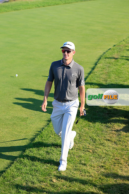 Justin Rose (ENG) walks to the 12th tee during Saturday's Round 3 of the 97th US PGA Championship 2015 held at Whistling Straits, Mosel, Kohler, Wisconsin, United States of America. 15/08/2015.<br /> Picture Eoin Clarke, www.golffile.ie
